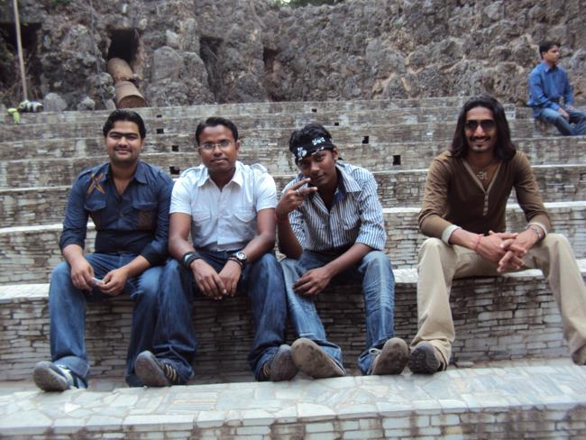 Inder Singh Sanjay And friends at chandigarh rock garden