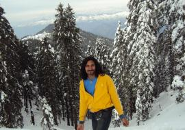 Inder Singh Snow covered hills feb 2010 Mandi Bgsaid janjalhi Thunag
