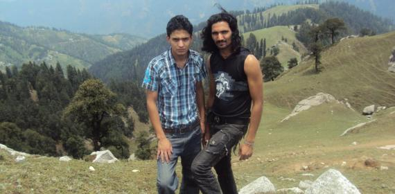 Sanjay And Inder SIngh above karsong vally Kamrunag
