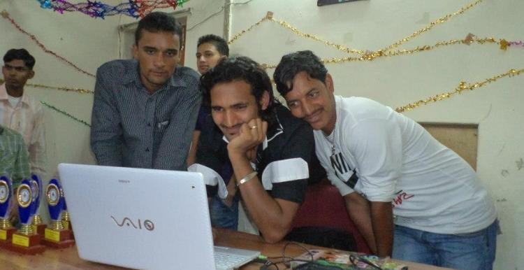 Inder SIngh, Gulab Singh, Deep Kumar at Jivisha Institute
